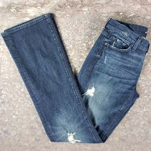 7 FAMK Kimmy Boot Destroyed Distressed Jeans 29